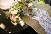 136 Rustic Ivory Burlap Chair Sashes 21% Off  Tradesy Weddings