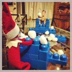 Christmas Elf, All Things Christmas, Xmas, Awesome Elf On The Shelf Ideas, Elf On The Shelf Ideas For Toddlers, Elf Magic, Elf On The Self, Naughty Elf, Snowball Fight