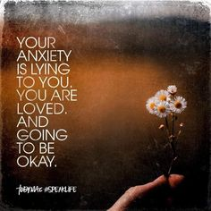 Anxiety is lying to you - you are loved & you are going to be okay! Proclaim it as an affirmation even if you don't fully believe it and over time it should sink in. Faith Quotes, Bible Quotes, Me Quotes, Meaningful Quotes, Inspirational Quotes, Motivational Thoughts, Tobymac Speak Life, Toby Mac, Words Of Encouragement