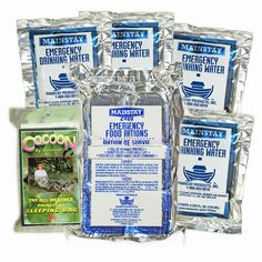 Survival Aid 3 in 1 Emergency Pack - Food/Water/Sleeping Bag - 2 Day Value Pack #Mainstay