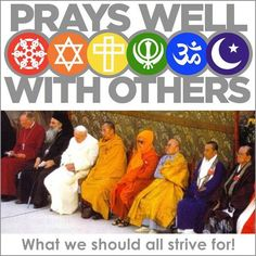 Pope Francis- prays well with others