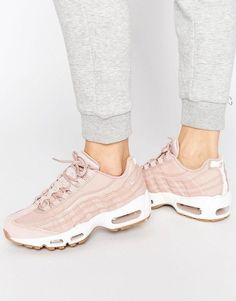 Nike Air Max 95 Premium Trainers In Pink