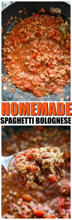 Spaghetti Bolognese Recipe, quick and easy, this simple Spaghetti Bolognese sauce is mouthwatering special! Sauce Recipes, Pasta Recipes, Beef Recipes, Dinner Recipes, Cooking Recipes, Dinner Ideas, Chicken Recipes, Bolognese Recipe, Bolognese Sauce