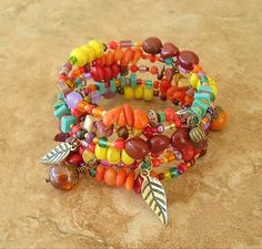 Boho Bracelet Bohemian Jewelry Colorful Jewelry by BohoStyleMe