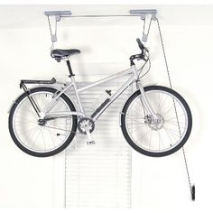 How To Hang A Bike From The Ceiling Storage Storage