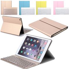 Backlit Wireless Bluetooth Keyboard Stand PU Case for iPad Air 2 Pro 9.7