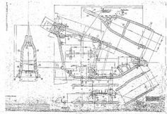 images of chopper bobber blueprints | Harley Davidson Panhead Wishbone Frame Blueprint 24 x 36 Huntington