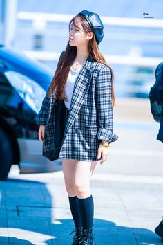 180504 ICN -> Singapore   #OHMYGIRL #오마이걸 #승희 Fashion Tag, Asian Fashion, Daily Fashion, Airport Style, Airport Fashion, Rapper, Pop Group, Korean Girl Groups, Girl Pictures