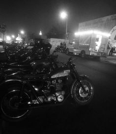 The scene outside on The TSY Blackbird event at Fast Ashley's Studios in Brooklyn – yep– lots of bikes, Triumphs, a Ducati or two and plenty of other nice rides. Donwan Harrell of PRPS even drove his 440 6-pack Road Runner! –photo by The Vintagent