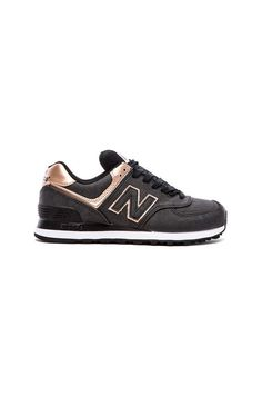 sports shoes 19ac8 2b3a7 New Balance 574 Precious Metals Collection Sneaker en Charcoal New Balance  Noires, Chaussure New Balance