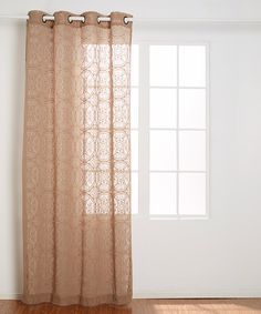 Look at this Taupe Donovan Lace Grommet Panel on #zulily today!