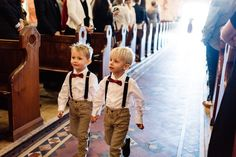 Page Boy Boys Ring Bearer Bearers Boutonnieres Cute Bridal Party Groom Burgundy Bow tie Spots Chinos Tan Pants Suspenders Navy Cream Button up