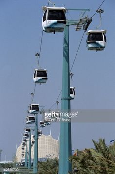 Universal Exposition Of Seville 1992 Transportation. Utility Pole, Transportation, Nostalgia, Memories, World, City, Travel, Seville Spain, B W Photos
