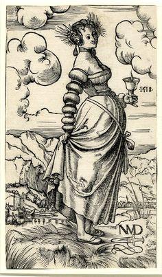 Artist: Deutsch, Niklaus Manuel, Title: A wise virgin facing right, Date: 1518