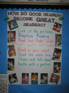 take pics of your students doing what good readers do :)
