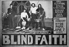 Blind Faith Posters | Blind Faith '69 flyer