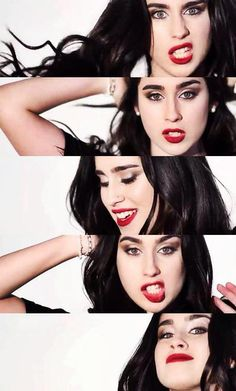 Red lips are best <3 <- lauren smiling is the best too