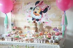 Sweet Table from a Boho Chic Minnie Mouse Birthday Party via Kara's Party Ideas KarasPartyIdeas.com (14)