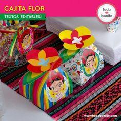 Frida - Todo Bonito Frida Kahlo Birthday, 3rd Birthday, Lunch Box, Party, Mayo, Garden, Mexican Party, Ideas, Fiestas