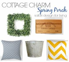 Home Decor Items for a Cottage Charm Spring Front Porch via @Shauna Oberg @ Satori Design