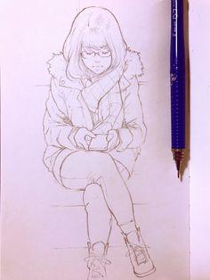 Subway sketch!   Kuvshinov Ilya on Patreon