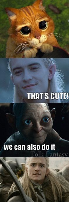 Sorry, Gollum, but you're not cute enough.