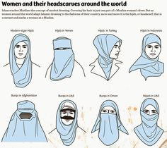 The hijab has become a symbol of Islam, and is almost inseparable from Islam. The origin of the hijab and its variants (the burqa and niqab), however, lie before the advent of Islam. Womens Fashion Online, Latest Fashion For Women, Muslim Fashion, Hijab Fashion, Hijab Niqab, Turban Hijab, Hijab Tutorial, Thinking Day, The Middle