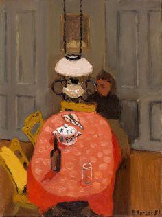 Fairfield Porter (1907–1975), Interior, 1951, Oil on canvasboard, 46.99 cm x 39.37 cm | Smith College Museum of Art