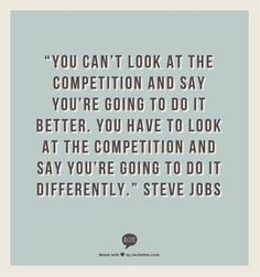 You're Going To Do It Differently