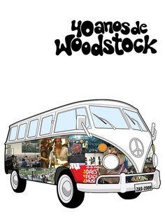 40 anos de Woodstock #vwkombi# #kombi#
