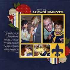 Cub Scouts great scrapbook page