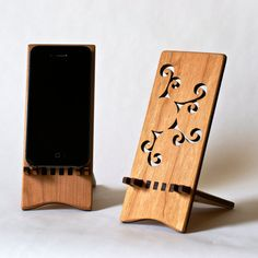 Apple iPhone 4/4s Stand  Sun Spiral by ideasinwood on Etsy, $25.00