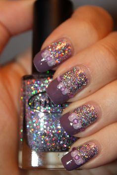 One of the only uses of glitter polish that I have liked.