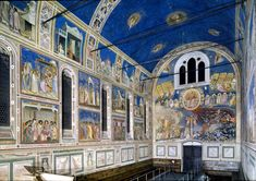 La Cappella degli Scrovegni by Giotto  was one of the first artists of the proto-renaissance period in Italy. The emergence of Giotto signaled the beginning of the Renaissance in Italy