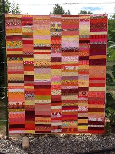 Chinese Coins in in the red to yellow range. Tanya Quilts in CO: Generous Quilt Donations