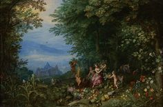 An extensive Landscape with Ceres and her Entourage (Allegory of Earth) by Jan Brueghel the Elder