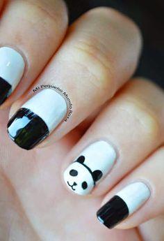 Mi pequeño mundo rosa ♥: Diseño de uñas de pandas