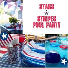 Stars & Stripes Pool Party {Summer Party Themes}
