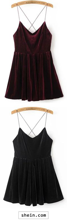 Better to hide the blood when I feed Burgundy Spaghetti Strap Cross Back Velvet Romper Couture Fashion, Girl Fashion, Fashion Outfits, Fashion Design, Badass Style, My Style, Quirky Fashion, Rompers Women, Cool Outfits