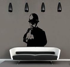 Vinyl Wall Decal Sticker Bedroom Holl Middle Finger Policeman Cop Fuck A103 Sticker'Shop http://www.amazon.com/dp/B019ECYVPO/ref=cm_sw_r_pi_dp_BYfCwb1B6DXTJ