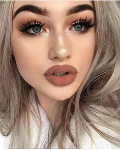 makeup ideas – Hair Care Tips and Tricks Glam Makeup Look, Sexy Makeup, Beauty Makeup, Face Makeup, Hair Beauty, Makeup Style, Flawless Makeup, Makeup Eyeshadow, Beautiful Lips