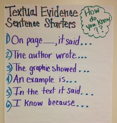 Giving Text Evidence- Great for Common Core!