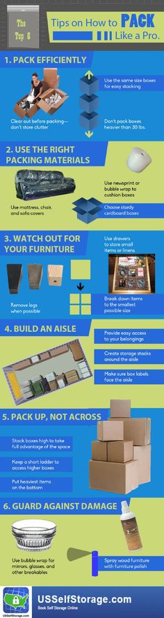 How to pack your storage unit right way? Here's the top 6 tips on how to pack a storage unit so everything organized and accessible.