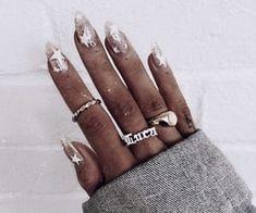 Nails - ultimate nail art for 2017 on We Heart It Nails 2017 Trends, Music Nails, Handpoked Tattoo, Nail Polish, Gel Nail, Star Nails, Dope Nails, Mani Pedi, Nail Inspo