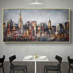 1 new message Abstract City, Abstract Wall Art, Canvas Wall Art, Types Of Art Styles, Nordic Art, Wall Art Decor, Room Decor, Living Room Pictures, City Buildings
