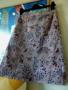 BNWT M/&S COLLECTION LADIES FLORAL SKIRT /& FABRIC TIE COPPER  SIZE 14 18 RRP £25