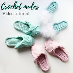This is a step by step 48 minutes video tutorial of how to crochet unique mules by Sevirika design. This video is in Russian with English subtitles (using the US crochet terms). The level of difficulty is medium. PLS NOTICE: ● This tutorial contains step by step mules making WITHOUT