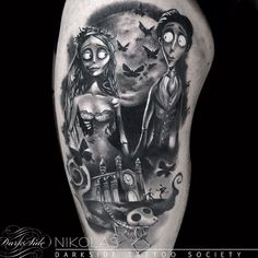 nightmare before christmas and corpse bride tattoos - Google Search