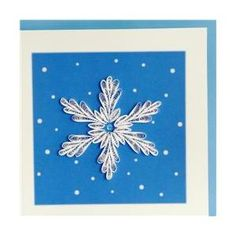 Quilling Card 049 Snow Flake