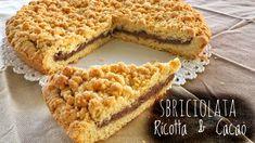 Sbriciolata ricotta e cacao, ricetta facile per una torta friabile dal cuore tenero che conquisterà i più golosi, l'impasto è facilissimo!